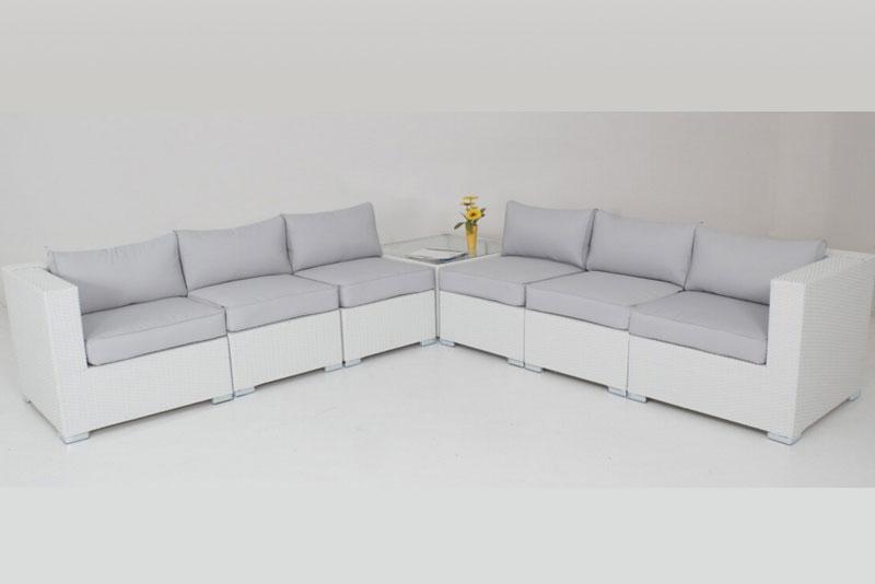 White Majeston Modular Outdoor Furniture Lounge