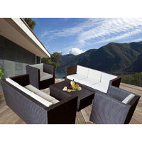 Brown Bella 8 Seater Wicker Outdoor Furniture Lounge
