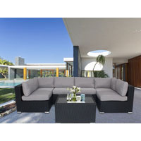 Black Majeston Modular Outdoor Furniture Lounge