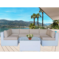 White Majeston Modular Outdoor Furniture Lounge