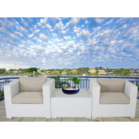 White Modena 3 Piece Outdoor Setting