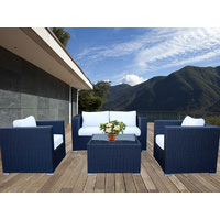 Black Osiana 5 Piece Outdoor Furniture