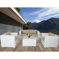 White Osiana 5 Piece Outdoor Furniture