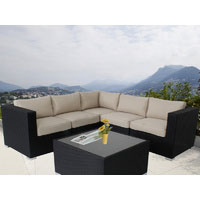Black Ellana Outdoor Corner Lounge Suite