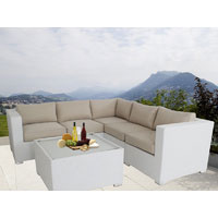 White Ellana Outdoor Corner Lounge Suite