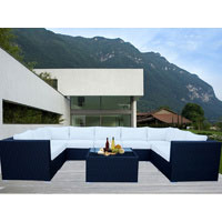Black Grand Jamerson Modular Outdoor Furniture Setting